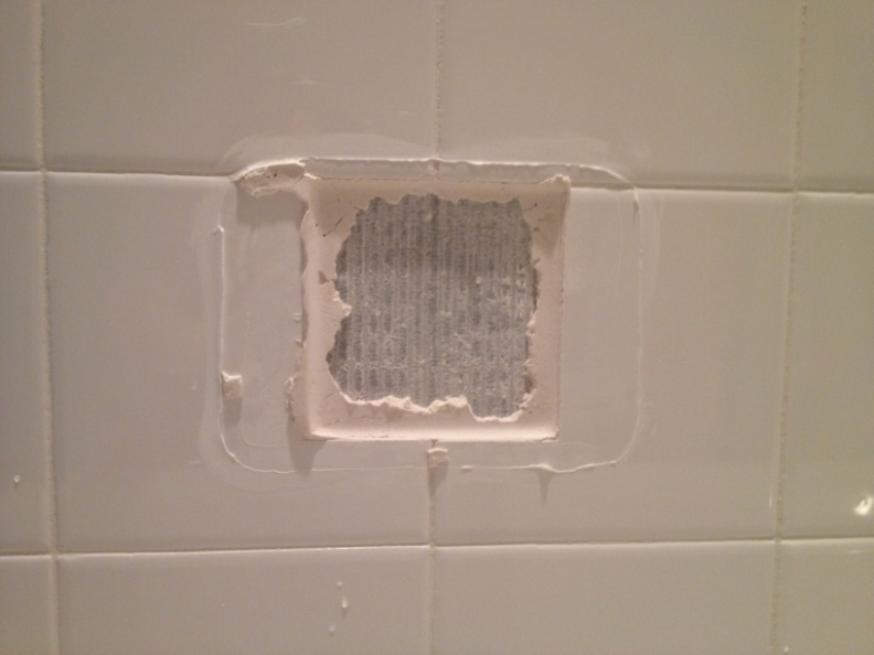 How to replace a broken tile soap dish in a shower for Bathroom tile repairs and replacement